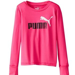 PUMA Girls' Forever Faster Tech Tee Pink